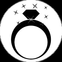 Shining Diamond Ring Sticker