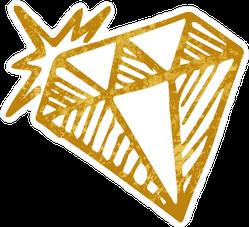 Shining Gold Outline Sticker