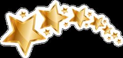 Shining Gold Stars Sticker
