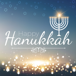 Shining Happy Hanukkah Sticker
