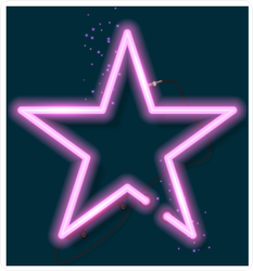 Shining Retro Neon Star Sticker