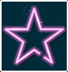 Shining Retro Neon Star Sticker