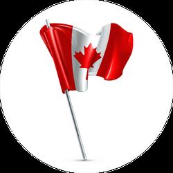 Shiny Flag Of Canada Sticker