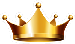 Shiny Gold Crown Sticker