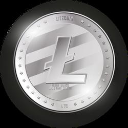 Shiny Litecoin Sticker