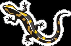 Shiny Salamander Lizard Sticker