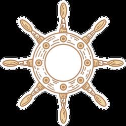 Ship Steering Wheel Sticker