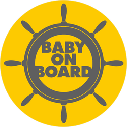 Ship Wheel Baby on Board Sticker