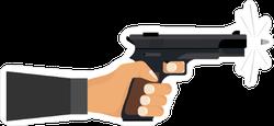 Shooting a Gun Sticker