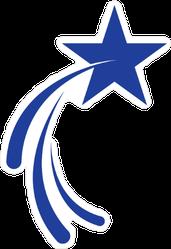 Shooting Star Logo Sticker