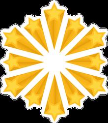 Yellow Shooting Stars Sticker