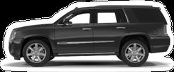 Side View Black SUV Sticker