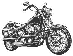 Side View Classic Motorcycle Sticker
