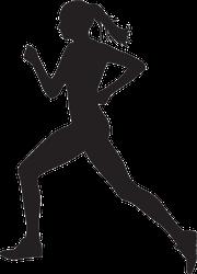 Side View Running Woman Sticker