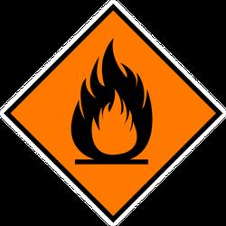 Sign Fire Hazardous Sticker