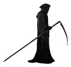 Silhouette Of A Grim Reaper Isolated On White Sticker