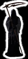 Silhouette Of A Grim Reaper Sticker