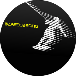 Silhouette Of A Man On A Wakeboard Sticker