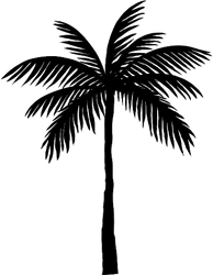 Silhouette Of A Single Palm Tree Sticker