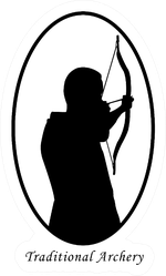 Silhouette Of Archer With Bow And Arrow Illustration Sticker