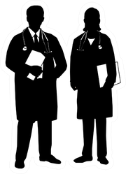Silhouette Of Medical Staff Sticker