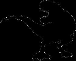 Silhouette T Rex Dinosaur Sticker