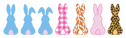 Silhouettes Collection Of Rabbits Sticker