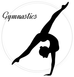 Silhouettes Of A Gymnastic Girl Sticker