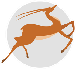 Silhouettes Of Antelope In Jumping Gait Sticker