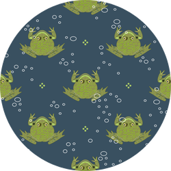 Silhouettes Of Frogs Or Toads And Water Bubbles Sticker