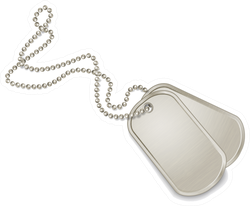 Silver Dog Tags Sticker