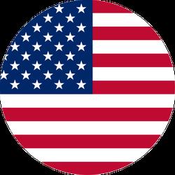 Simple American Flag Circle Sticker