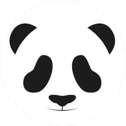 Simple Baby Panda Face Sticker