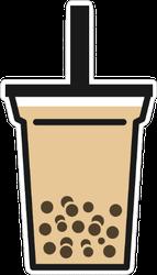 Simple Boba Milk Tea Sticker