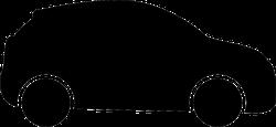 Simple Car Silhouette Sticker