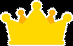 Simple Cartoon Gold Crown Sticker