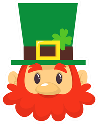 Simple Cartoon Leprechaun Sticker