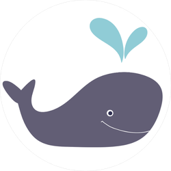 Simple Design Whale Sticker