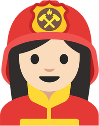 Simple Female Firefighter Sticker
