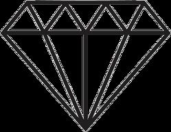 Simple Flat Diamond Sticker