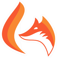 Simple Fox Head and Tail Sticker