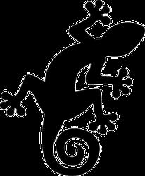 Simple Gecko Lizard Silhouette Sticker