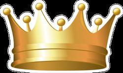 Simple Gold Crown Sticker