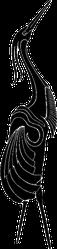 Simple Illustration / Drawing Of Crane Bird Sticker