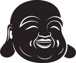 Simple Laughing Buddha Sticker