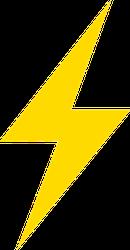 Simple Lightning Bolt Sticker