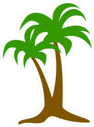Simple Palm Tree Sticker