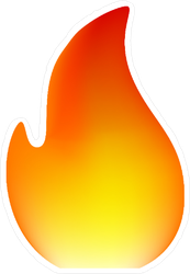 Simple Single Flame Sticker