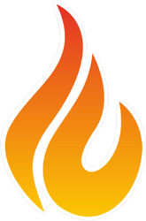 Simple Small Flame Sticker