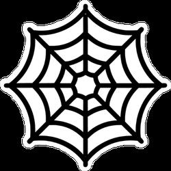 Simple Spider Web Icon Sticker